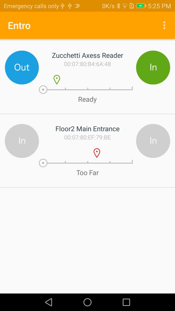 Entro App - BLE Access Control