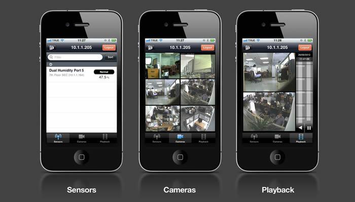 AKCP - iPhone - Controlo de Câmaras