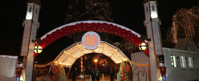 Aldeia Natal - Entrada à noite