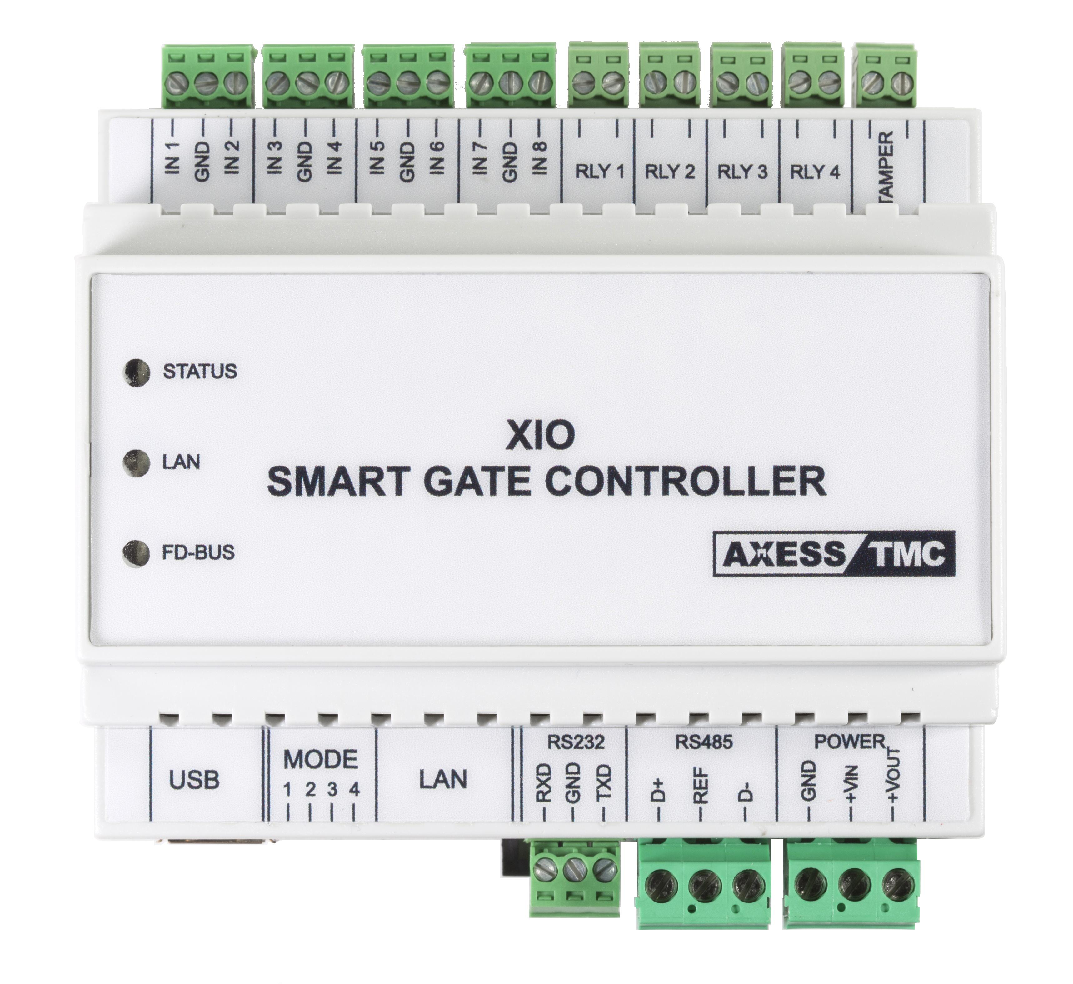 Controlador de Acessos AXESS X-IO Vista de Topo