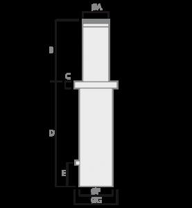 Vista Lateral Pilarete Bollard Dakota